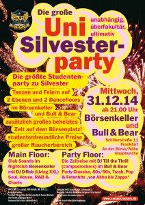 Uni Silvester Party Frankfurt 2014