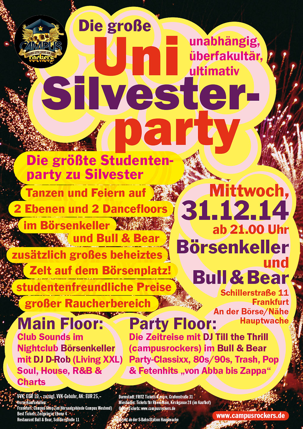 Silvester 2014 single party frankfurt